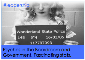 Psychos in the Boardroom (or Government). Fascinating stats.