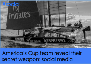 America's Cup team reveal their secret weapon #americascup #social