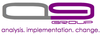 Q9 logo and tag line