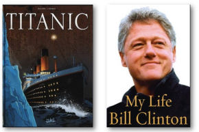 Literally genius or is it literacy genius?  Titanic vs My Life by Bill Clinton#fridayfunny